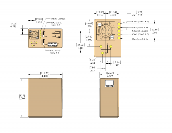PB-2590-SMB-10.2 (BB-2590/U) Battery Drawing